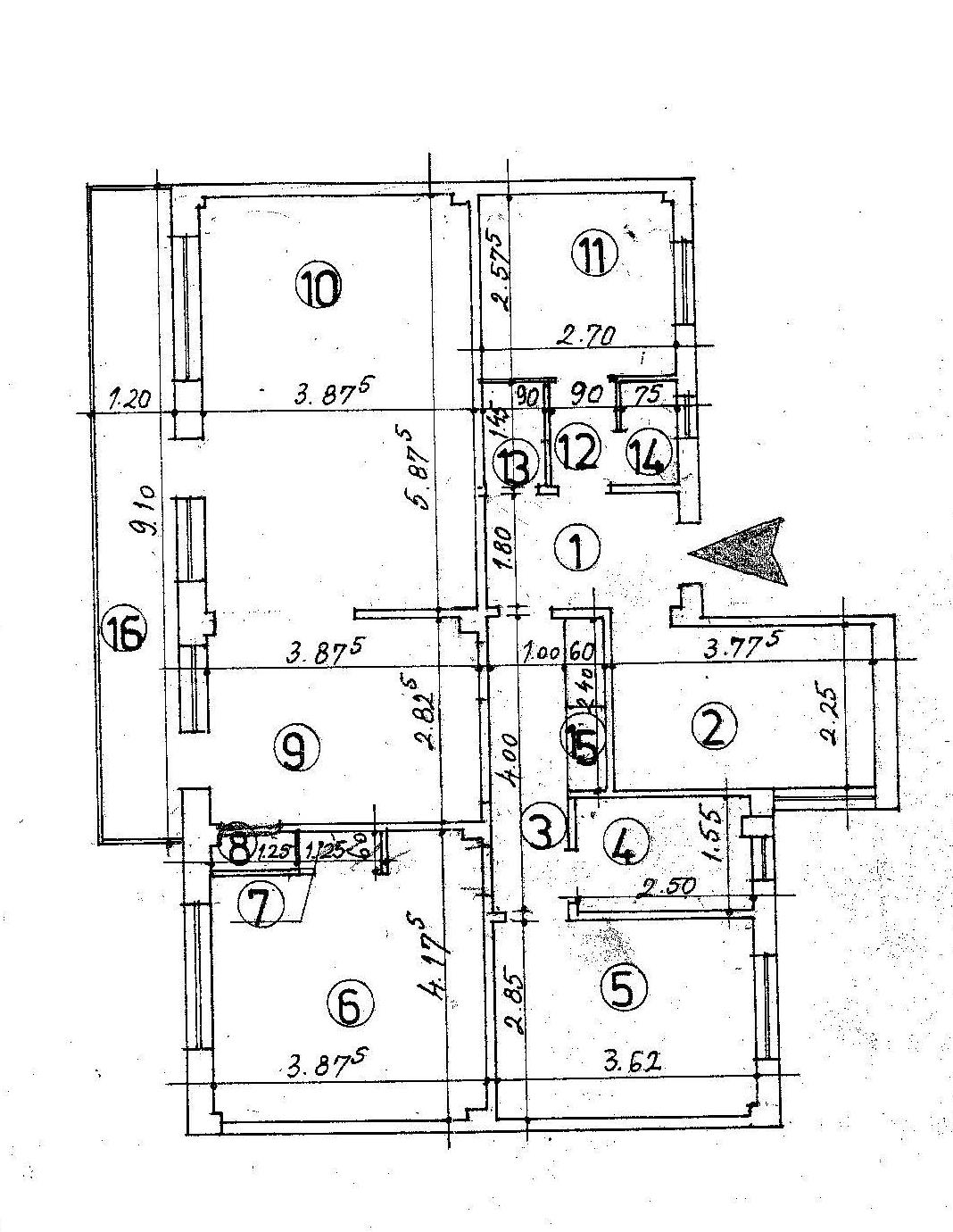 Plan Cadastral Radu Beller 5 camere mod